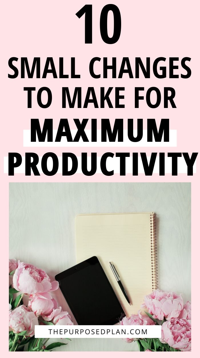 small changes to increase your productivity