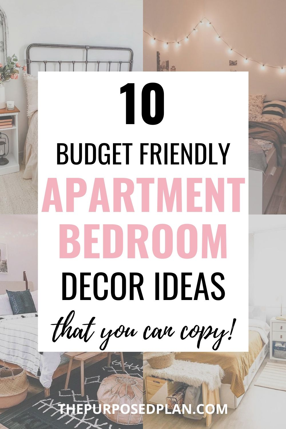 apartment bedroom decor on a budget