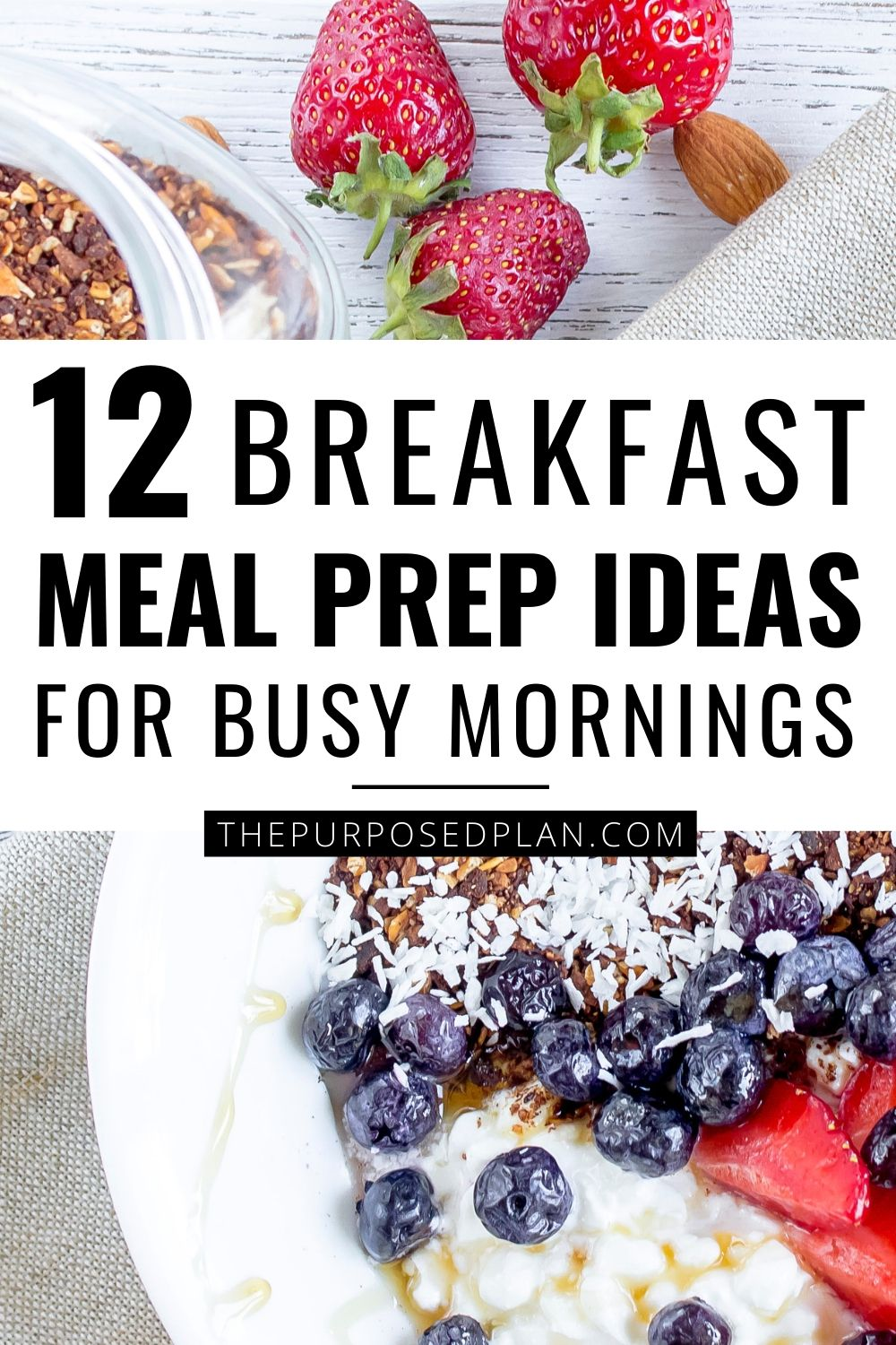 MEAL PREP IDEAS FOR BREAKFAST