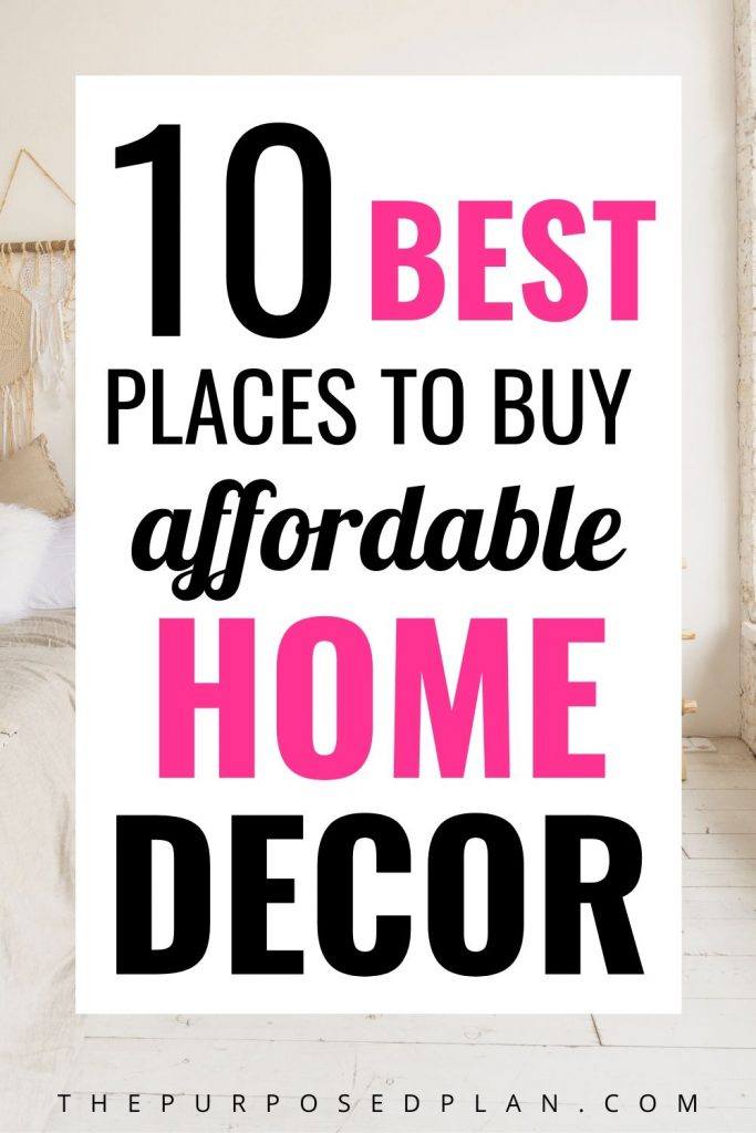 places to buy affordable home decorations