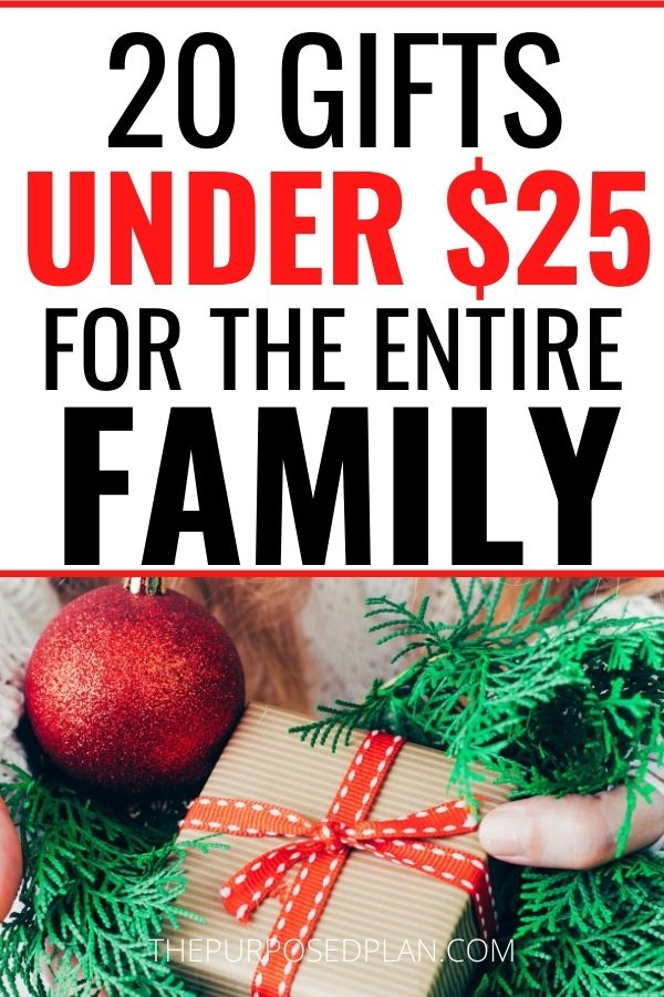 CHRISTMAS GIFTS ON A BUDGET CHRISTMAS GIFTS UNDER $25