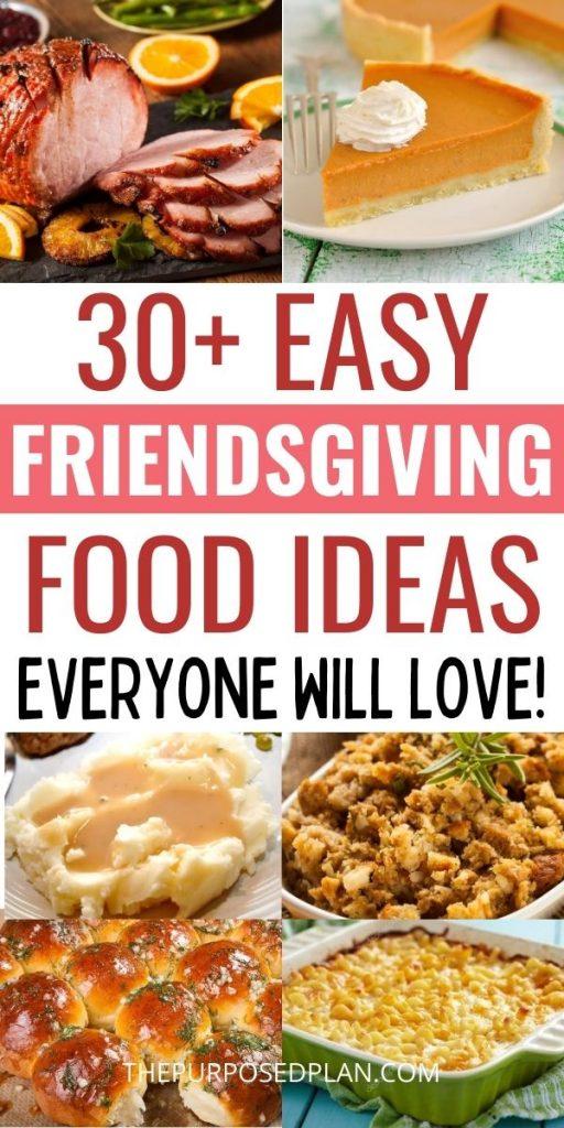 easy Friendsgiving food ideas