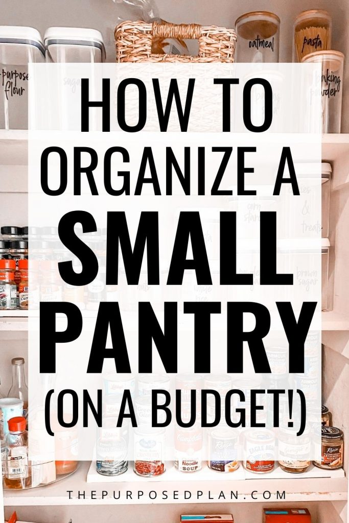 SMALL PANTRY ORGANIZATION HOW TO ORGANIZE A SMALL PANTRY