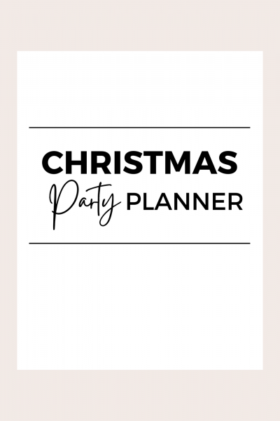 Christmas party planner printable