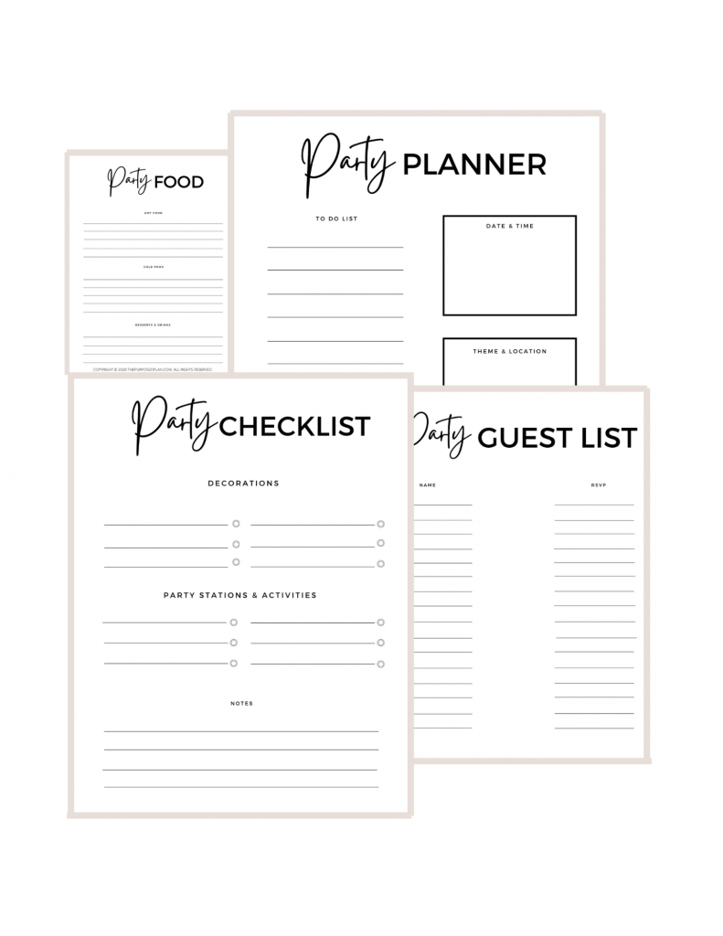 Christmas party planner checklist, Christmas party planner printables