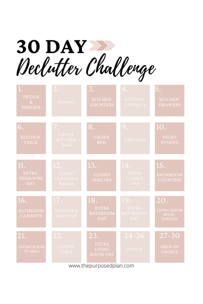 30 day declutter challenge 2021