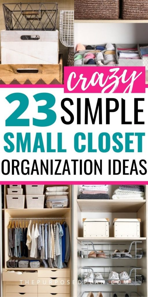 SMALL WALK-IN CLOSET ORGANIZATION IDEAS