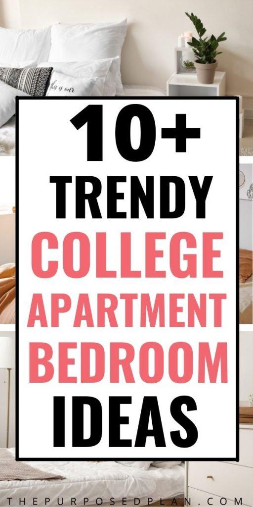 college apartment bedroom decorating ideas