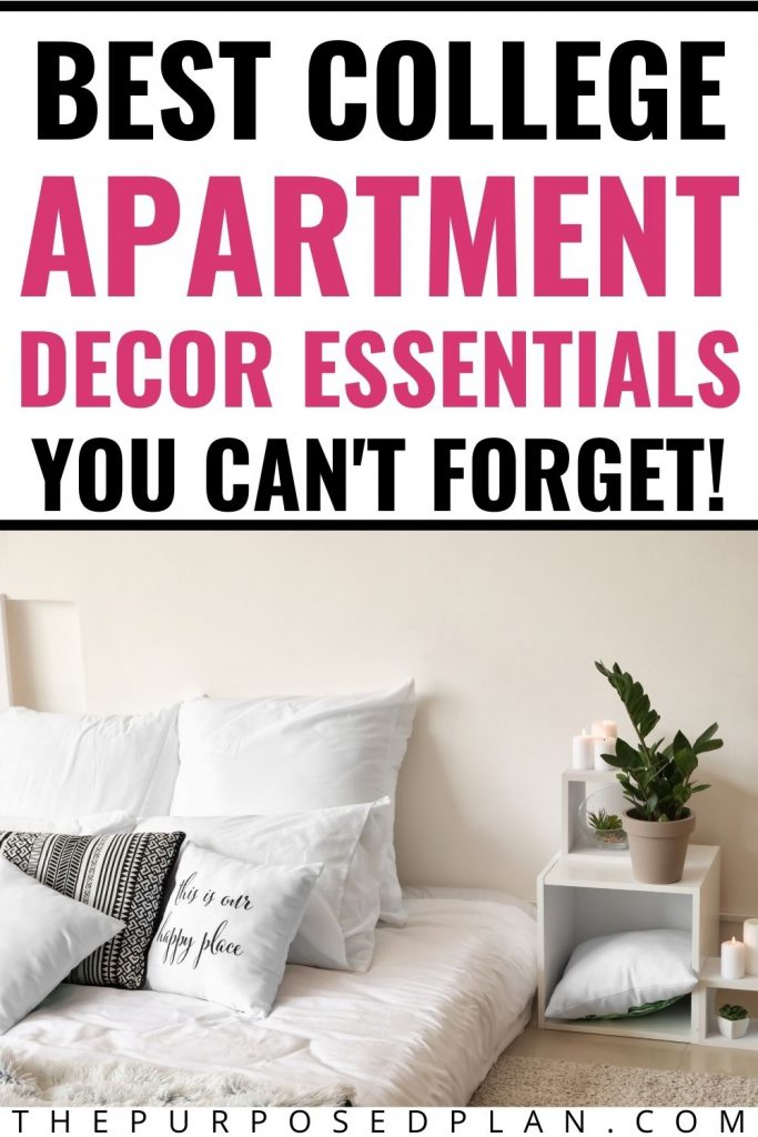 college apartment decor must haves