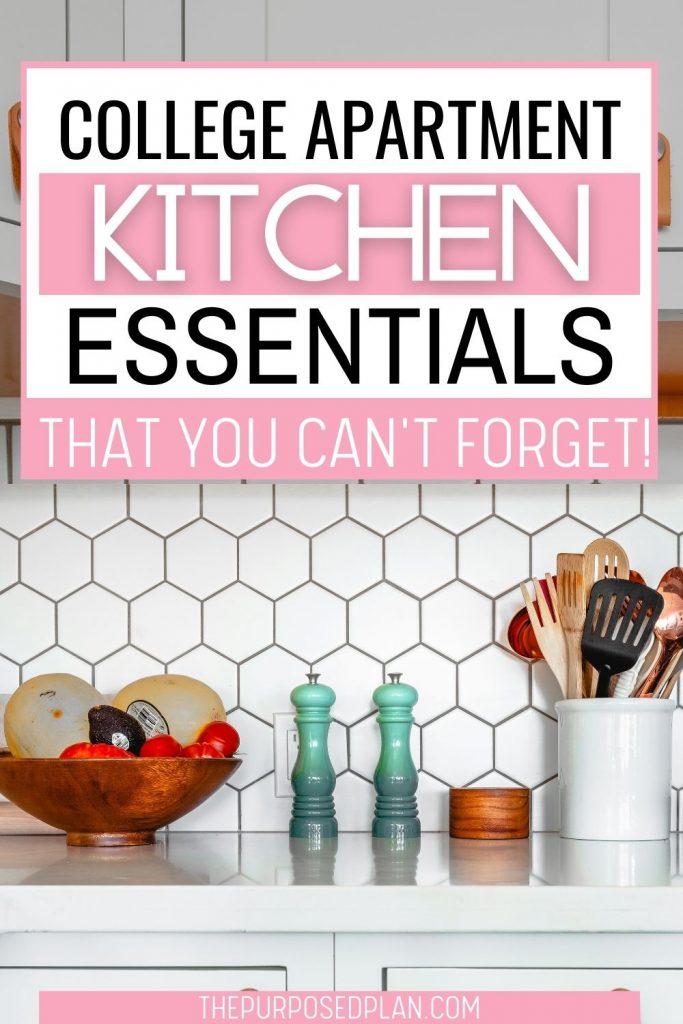 college apartment kitchen essentials