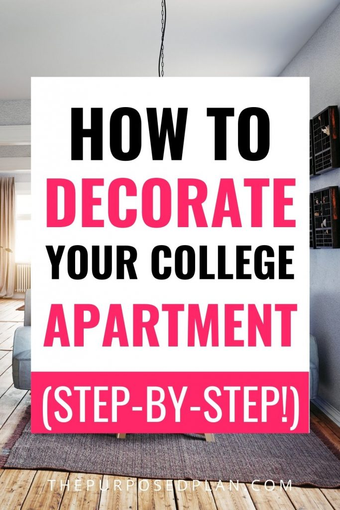 how to decorate your college apartment