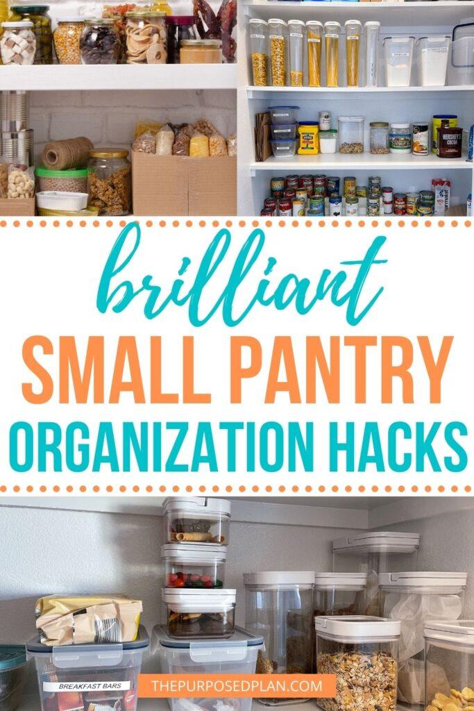 small pantry organization hacks
